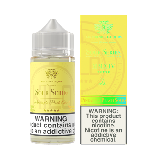 Pineapple Peach Sours by Kilo Sour Series E Liquid- 100ML - VAPE VENDOR